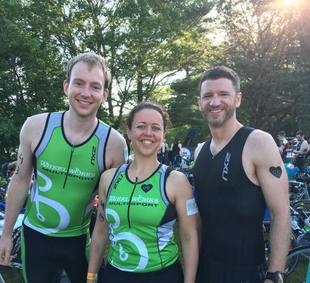 Some members of the team racing at the Harvest Triathlon!